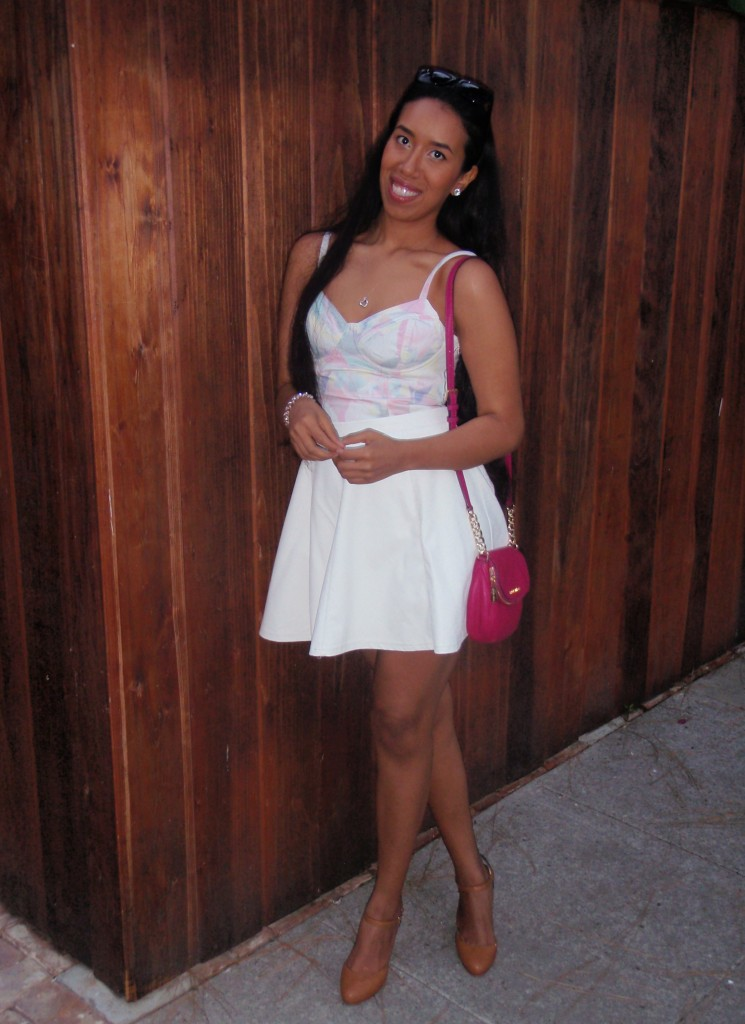 levis corset bodice white leather skirt outfit