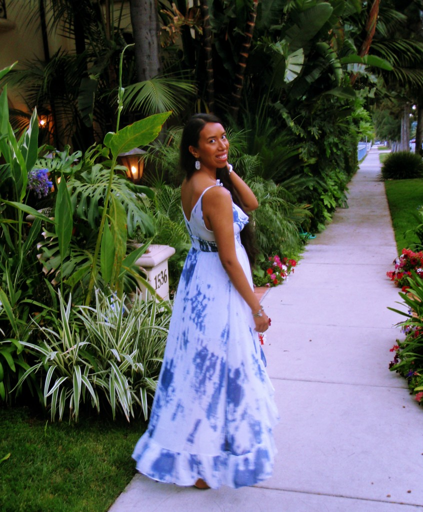 GUESS marble print maxi dress outfit