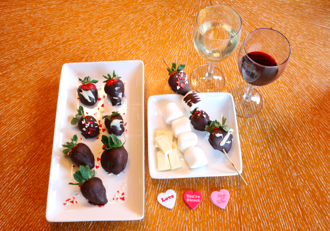 Valentines Day Dessert Chocolate Covered Strawberries
