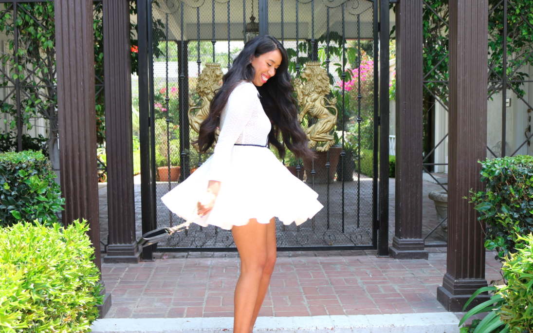 Black and White Dress Puffball skirt