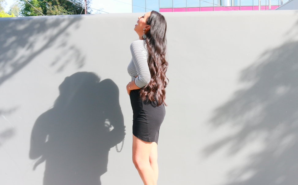 Asymmetrical Fit - Black and White Date Night Outfit Look