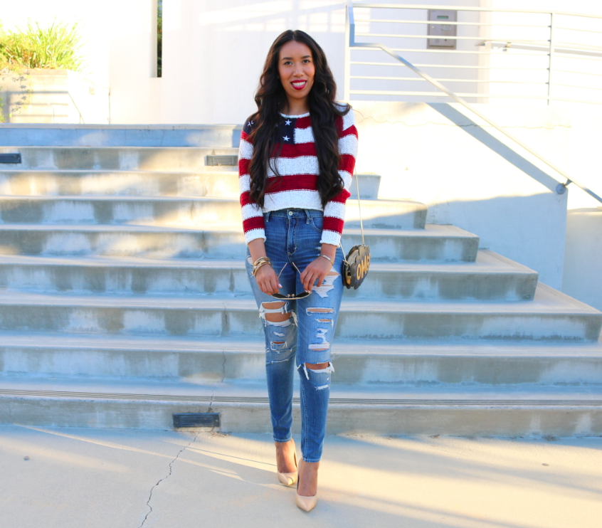Stars and Stripes -  Fourth 4th of July Outfit Ideas Red White and Blue