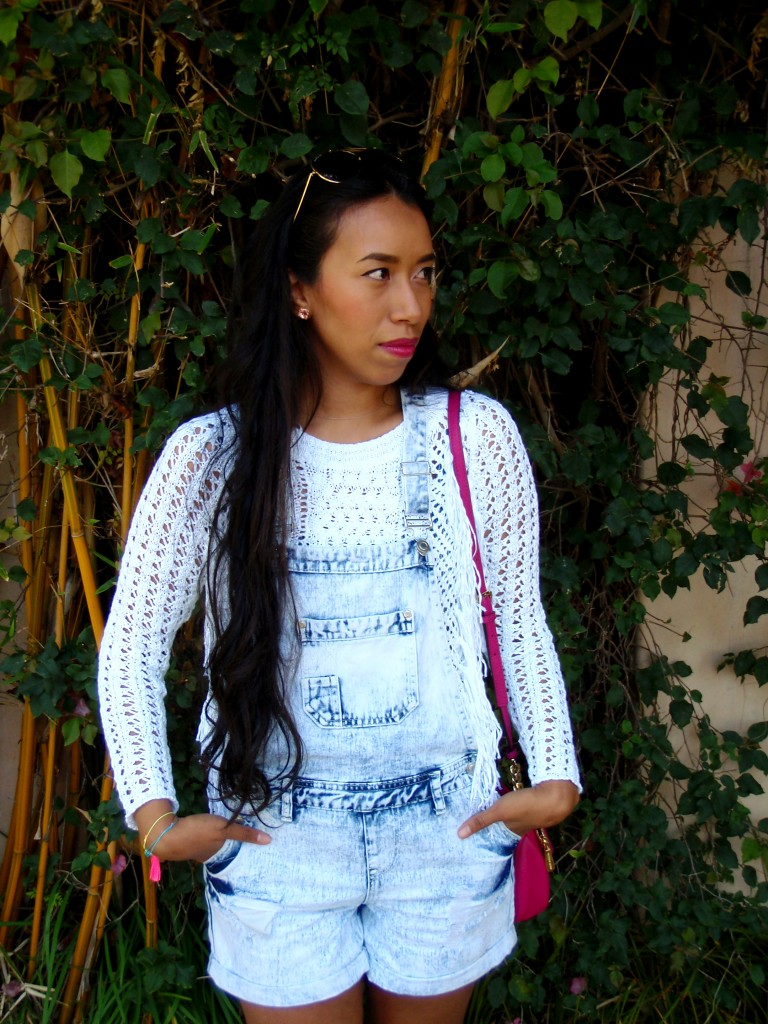 crochet fringe overalls outfit